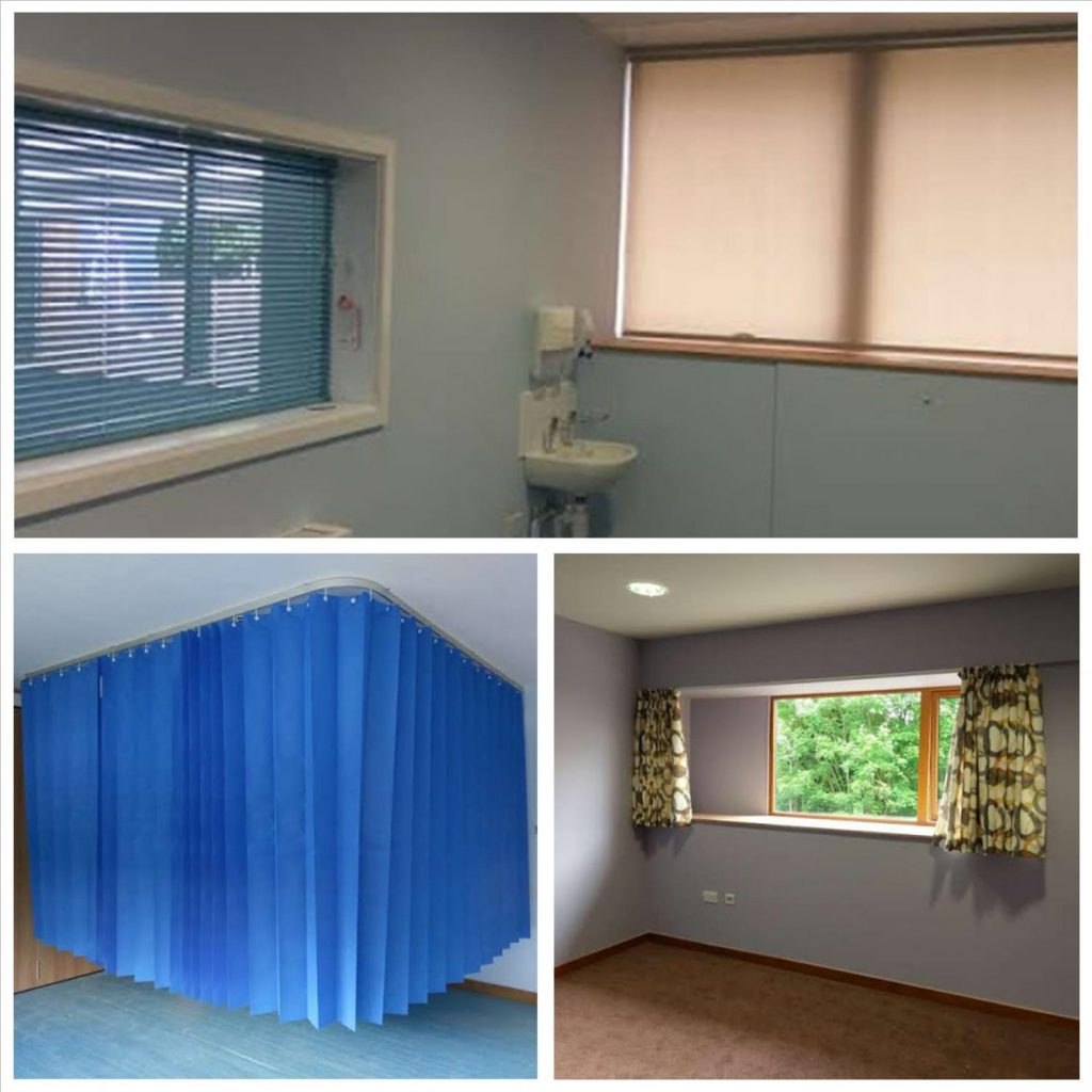 Blinds, Curtain Tracks & Curtains