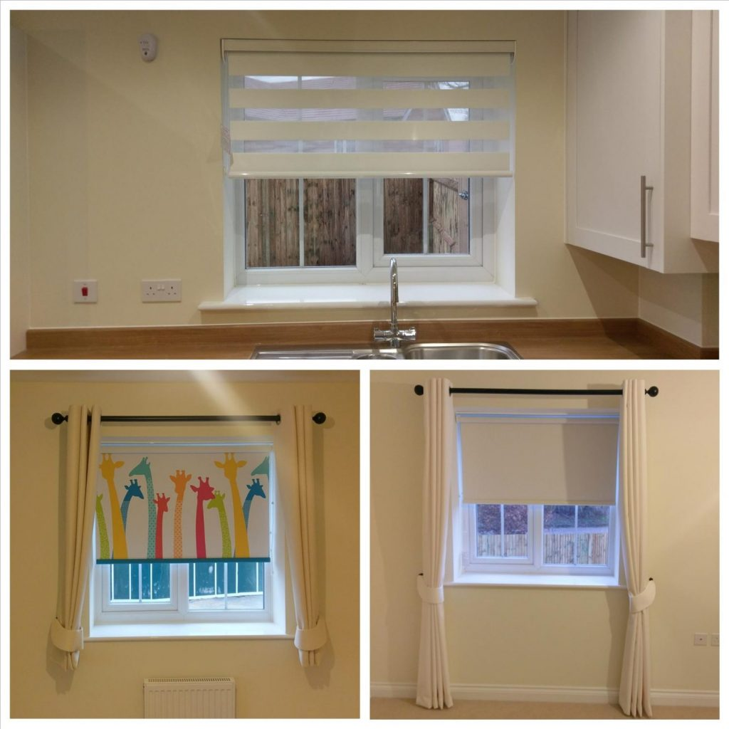Curtains, Poles, Roller & Vision Blinds