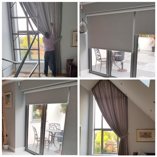 Italian Strung Curtain & Roller Blinds